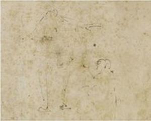 Lichte schets van figuren (verso)