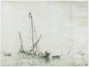 Zeilbootje op kalme zee