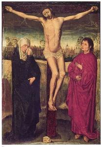 De gekruisigde Christus tussen Maria en Johannes de Evangelist