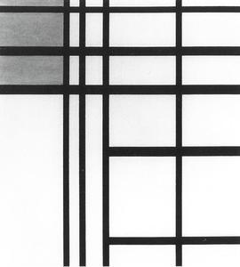 No. III: opposition de lignes de blanc et jaune