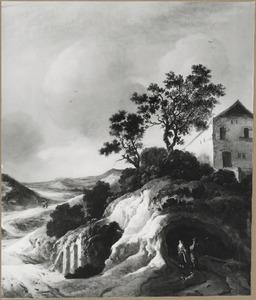 Heuvellandschap met huis