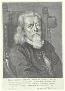 Portret van Thomas Fincke (1561-1656), hoogleraar