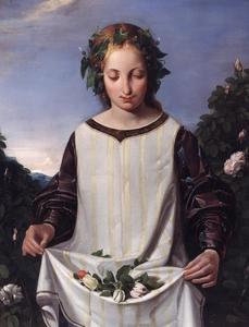 Jong meisje met bloemen