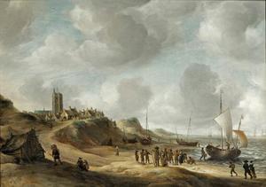 Visafslag op het strand van Egmond aan Zee
