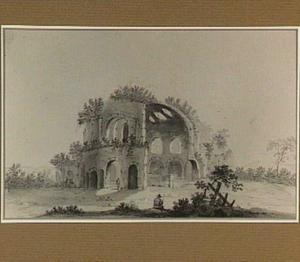 Landschap met de ruïne van de tempel van Minerva Medica