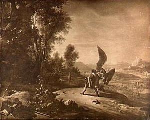Jakob worstelend met de engel (Genesis 32:26-31)