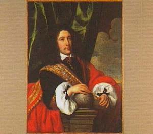 Portret van een man bij een balustrade