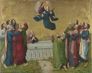 Het leven van Maria: de Tenhemelopneming van Maria (achterzijde: onderste helft van de Kroning van Maria)