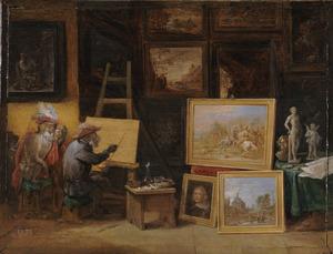 Aap als schilder