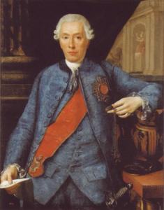 Portret Ludwig Carl Otto Fürst  zu Salm-Salm (1721-1778)