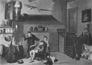 Boer en jongen bij een dokter
