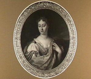Portret van Alida Brigitta Sandbergen (?-1740), echtgenote van Pieter Cornets de Groot