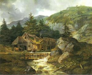 De smidse van een hoefsmid in de bergen
