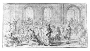 Christus en de schriftgeleerden in de tempel  (Lukas 2:41-52)