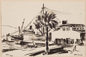 De haven van Batoemi aan de Zwarte Zee