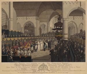 De doop van Alexander van Oranje-Nassau (1818-1848) in de Grote Kerk te Den Haag op 24 augustus 1818