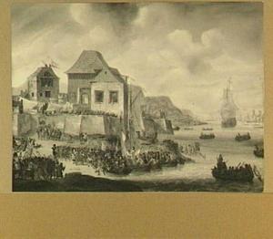 Landing te Sheerness tijdens de Tocht naar Chatham, 19-23 juni 1667