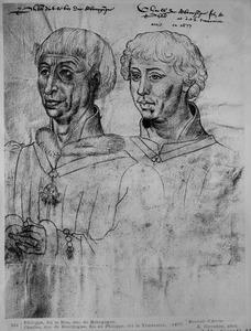 Dubbelportret van Philips 'de Goede' van Bourgondië (1396-1467) en Karel 'de Stoute' (Capet) van Bourgondië (1433-1477)