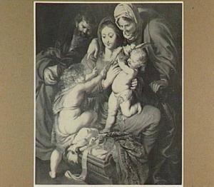 Heilige familie met Anna, Johannes de Doper en een duif