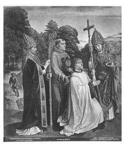 De stichter Bernardijn Salviati met de heiligen Martinus, Bernardinus van Siena en Donatius