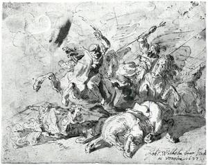 Ruitergevecht tussen oosterlingen