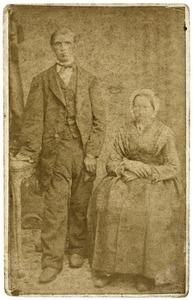 Portret van Gerrit Jan de Willigen (1826-) en Sara Geertruida Metselaar (1824-1907)