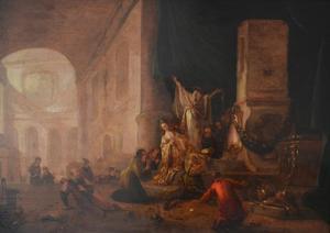 De ark in de tempel van Dagon