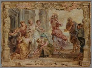 Achilles ontdekt tussen de dochters van Lycomedes