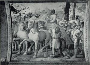 Davids terugkeer in triomf na de oorlog tegen de Ammonieten (2 Samuël 12:30-31)