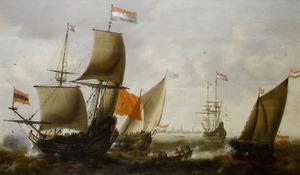 Schepen op de rede van Amsterdam