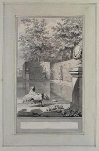 Illustratie bij 'Het jonge end' uit de Fabelen en vertelsels van F.C. Gellert