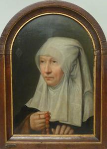 Portret van Jacomina Claesdr. van Ruyven gez. Tetrode (?-1509)