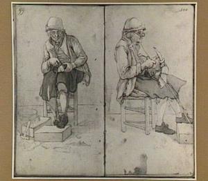 Twee studies van een schoenmaker
