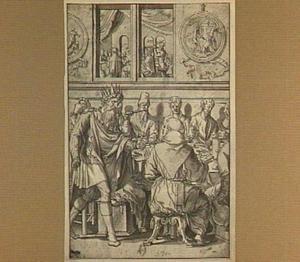 De parabel van de onwaardige bruiloftsgast: de koning berispt een genodigde zonder bruiloftskleed   (Mattheus 22:2-14)
