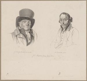 Portretten van Johannes Petrus van Horstok (1745-1825) en Warnaar Horstink (1756-1815)