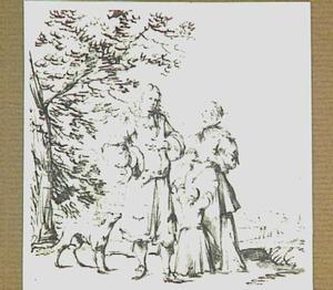 Echtpaar met kind in landschap