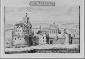 Rechterzijde van de Blauwe Toren (ook wel Arckel) in Gorinchem