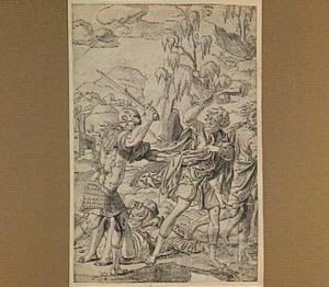 Simson doodt Filistijnen om hun kleding te verkrijgen (Richteren 14:19)