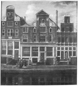 Huizen aan de Keizersgracht te Amsterdam, op de plaats van het huidige gebouw Felix Meritis