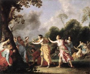 Amarillis speelt blindemannetje (Il Pastor Fido)
