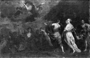 De god Mercurius wordt verliefd op Herse