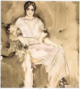 Portret van mevrouw Van der Vuurst de Vries-Godin (1876-1965)