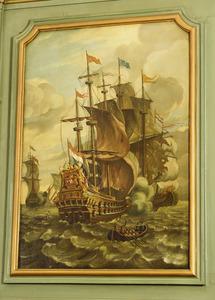 Zeegezicht met het fregat 'De Meermyn'