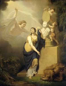 Allegorie op de dood van Prins Willem V in 1806