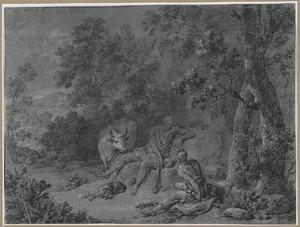 Mercurius, Argus en Io in een landschap