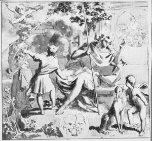 Allegorie met Narcissus