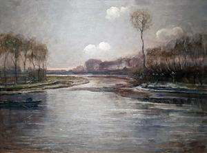Isolated tree on the Gein in winter