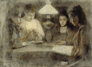 Portret van de zussen van Piet Slager (1871-1938)