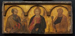 Christus tussen de heilige Paulus en Petrus