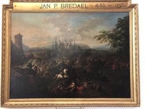 De slag bij Peterwardein op 5 augutus 1716